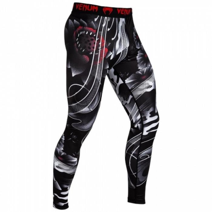 Компрессионные штаны Venum Samurai Skull Spats Black (VENUM-03200-001) р. S